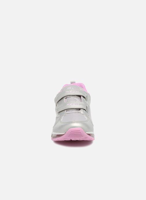 Baskets Geox J Android G.A  J8245A Argent vue portées chaussures