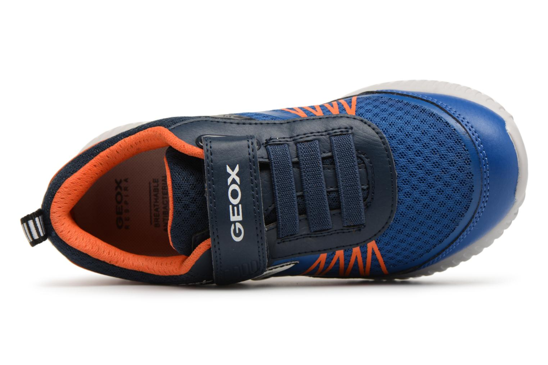 Baskets Geox J Waviness B.C J826Tc Bleu vue gauche
