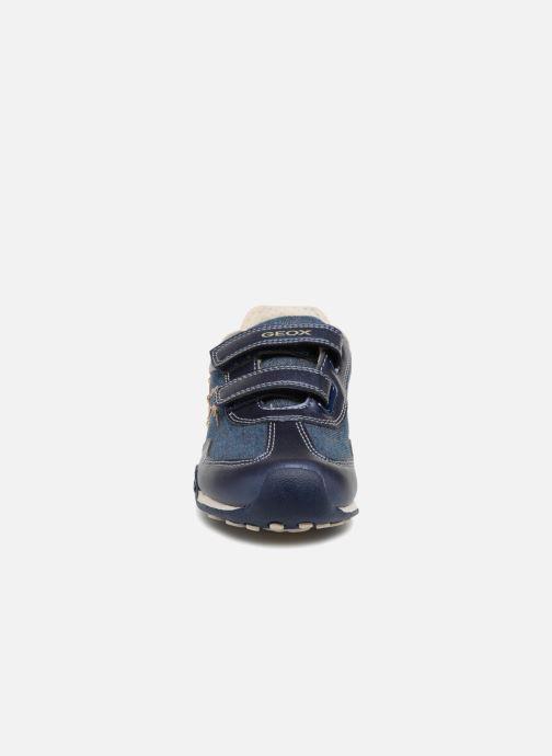 Baskets Geox J N.Jocker G.D J82G2D Bleu vue portées chaussures