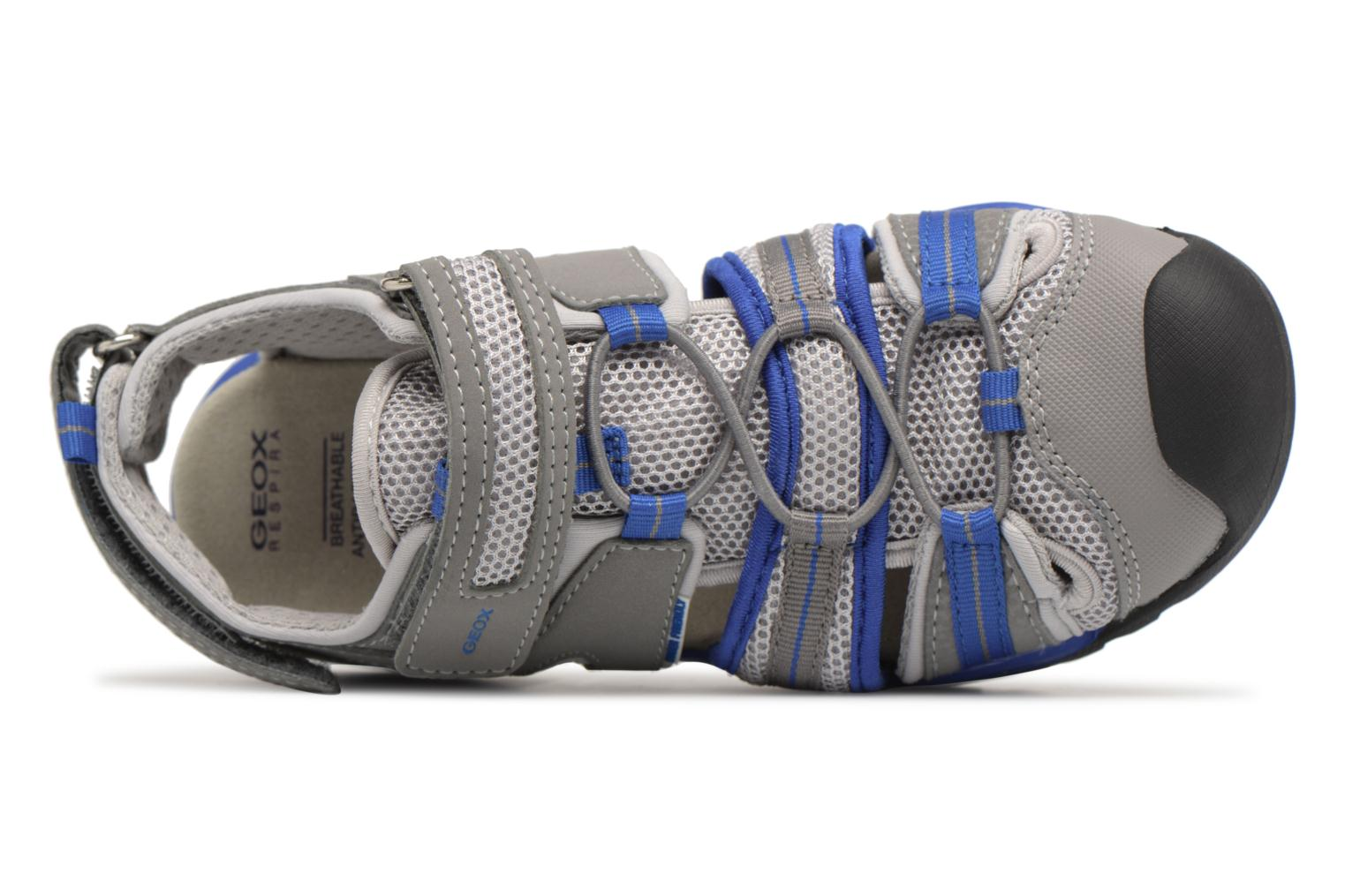 Sandals Geox J Borealis B. C J720RC Grey view from the left