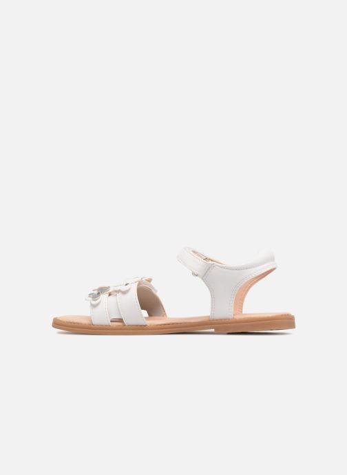 Sandales et nu-pieds Geox J S.Karly G. I J8235I Blanc vue face