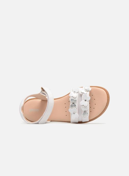Sandales et nu-pieds Geox J S.Karly G. I J8235I Blanc vue gauche