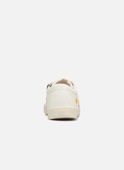 Baskets Palladium Plflame Low S K Blanc vue droite