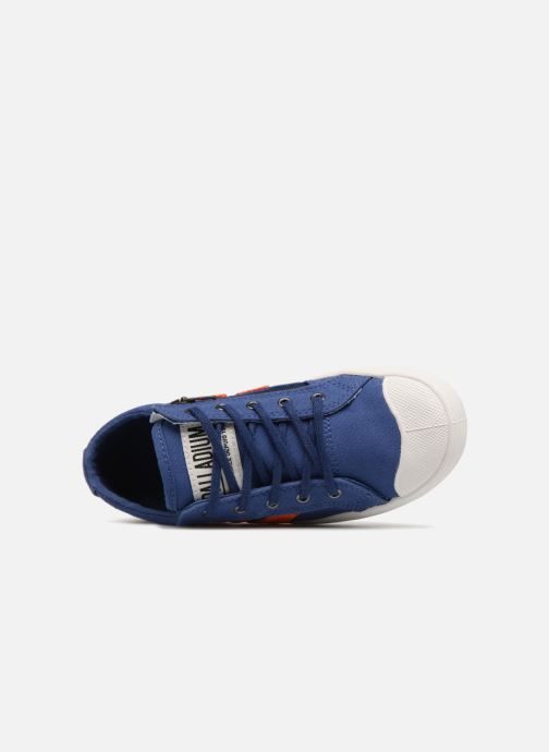 Baskets Palladium Pallaflame Low Cvs K Bleu vue gauche