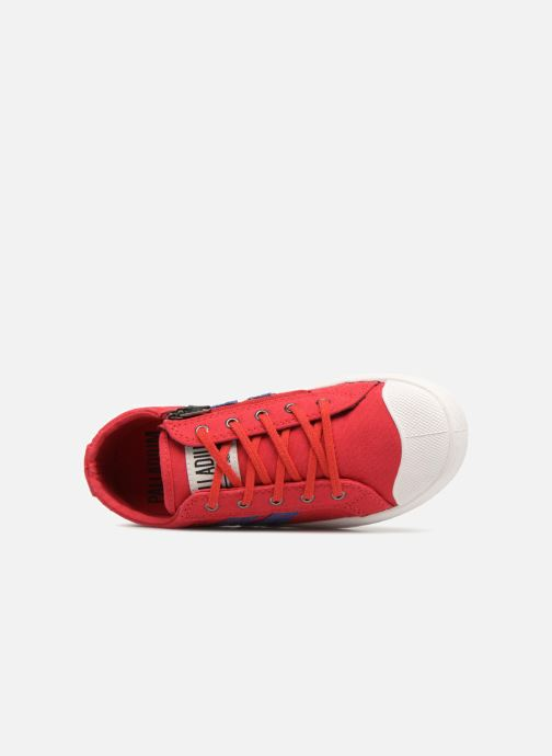 Baskets Palladium Pallaflame Low Cvs K Rouge vue gauche