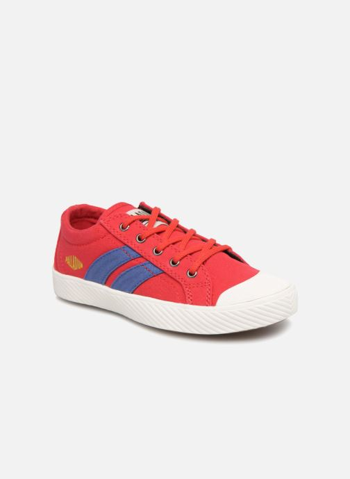 Baskets Palladium Pallaflame Low Cvs K Rouge vue détail/paire