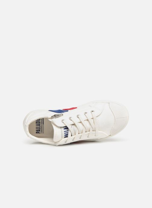 Baskets Palladium Pallaflame Low Cvs K Blanc vue gauche