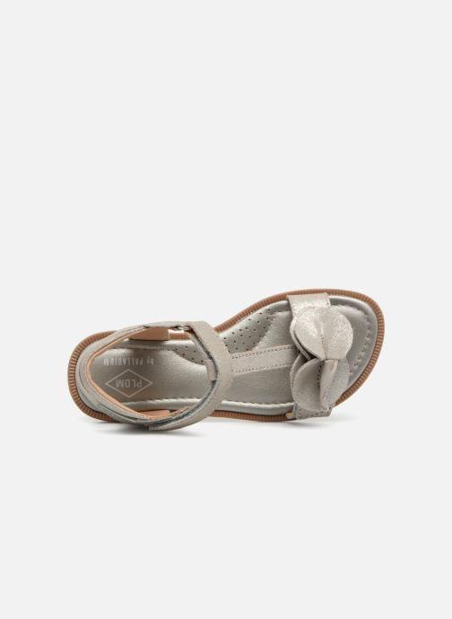 Sandales et nu-pieds P-L-D-M By Palladium Siggy Argent vue gauche