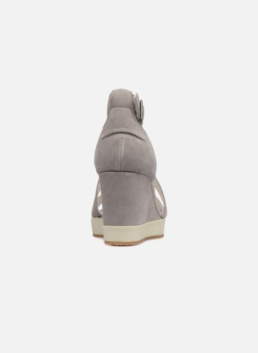 Sandalias P-L-D-M By Palladium Wellton mix Gris vista lateral derecha