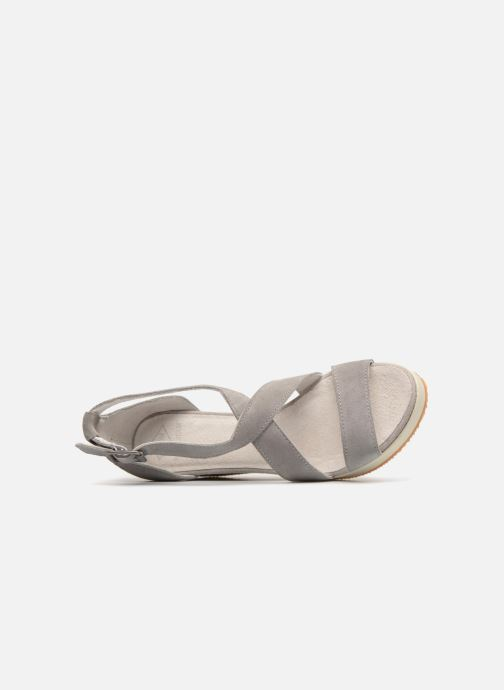 Sandalias P-L-D-M By Palladium Wellton mix Gris vista lateral izquierda