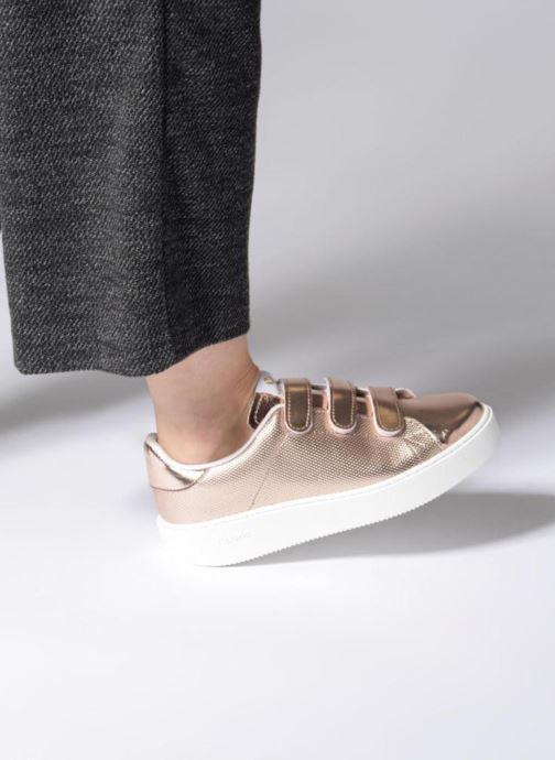 Sneakers Victoria Deportivo Metalico Velcros Roze onder