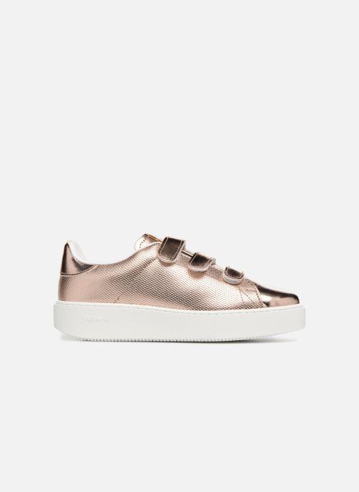 Sneakers Victoria Deportivo Metalico Velcros Roze achterkant