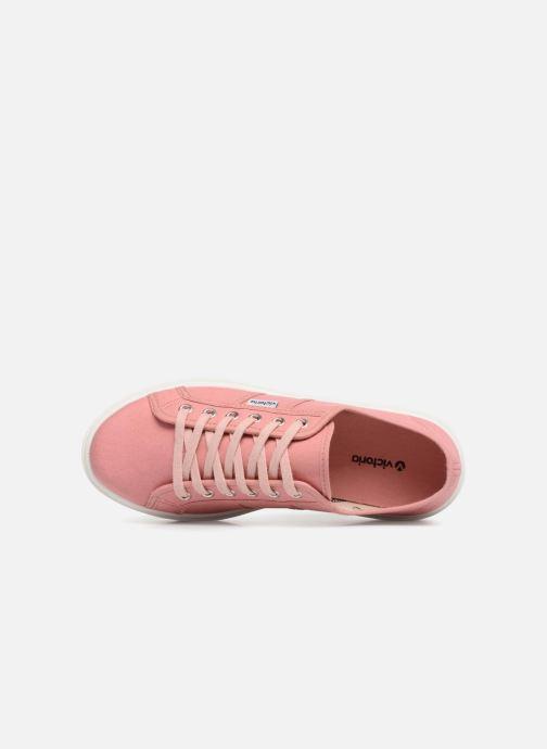 Sneakers Victoria Basket Lona Rosa immagine sinistra