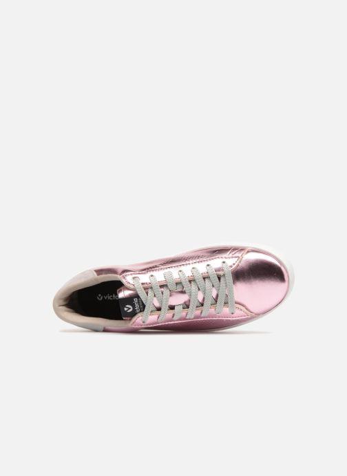 Sneakers Victoria Deportivo Metalizado Rosa immagine sinistra