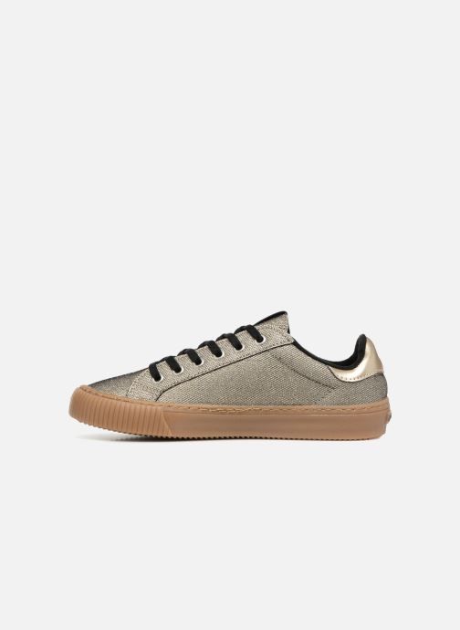 Trainers Victoria Deportivo Metalizado Bronze and Gold front view