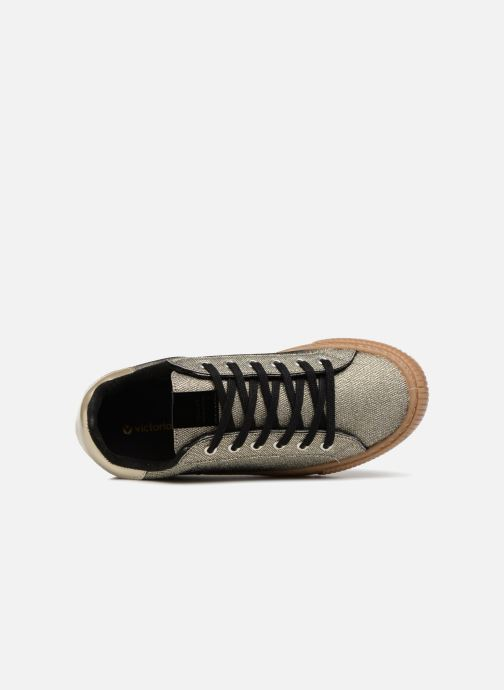 Trainers Victoria Deportivo Metalizado Bronze and Gold view from the left