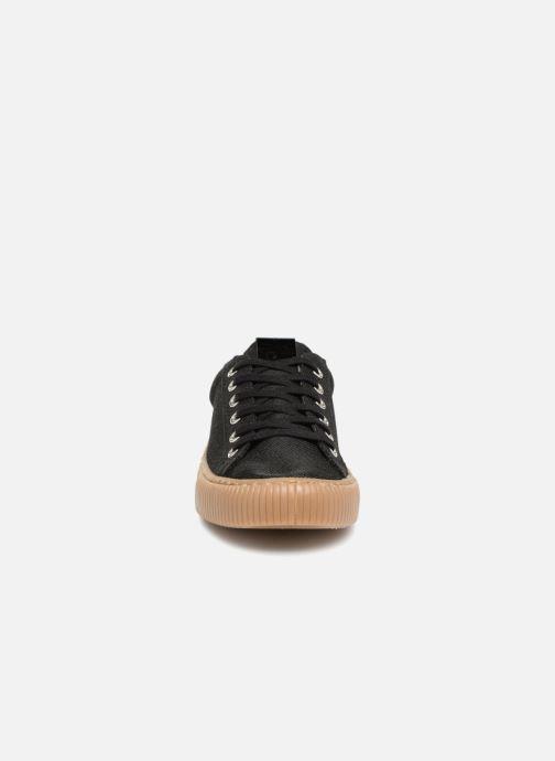 Baskets Victoria Deportivo Metalizado Noir vue portées chaussures