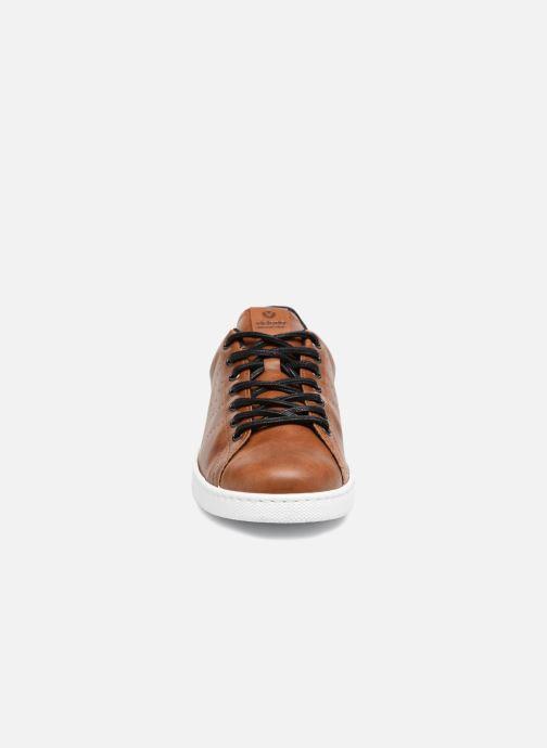 Baskets Victoria Deportivo Pu Contraste Marron vue portées chaussures
