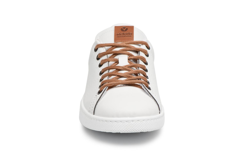Baskets Victoria Deportivo Pu Contraste Blanc vue portées chaussures