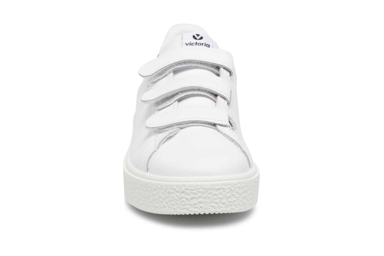 Baskets Victoria Deportivo Piel Velcros Noir vue portées chaussures