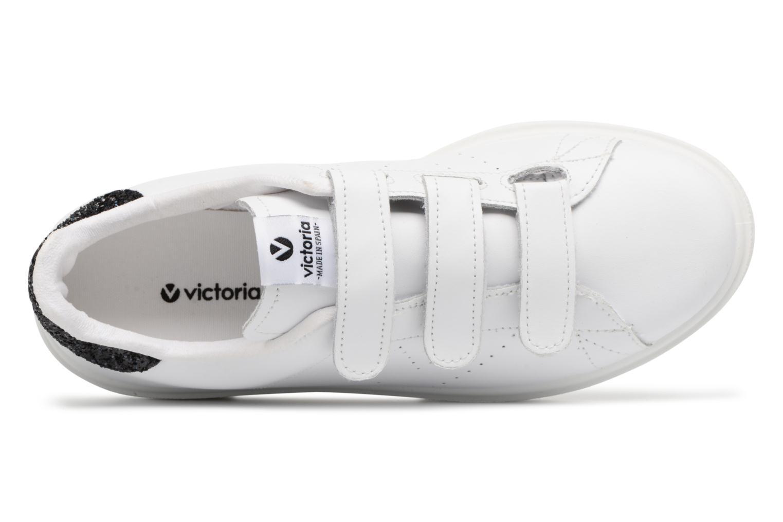 Baskets Victoria Deportivo Piel Velcros Noir vue gauche
