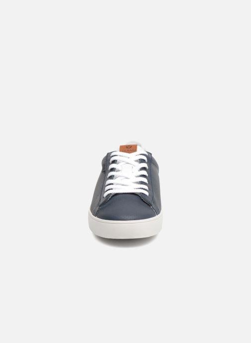 Baskets Victoria Deportivo Piel Mil Puntos Bleu vue portées chaussures