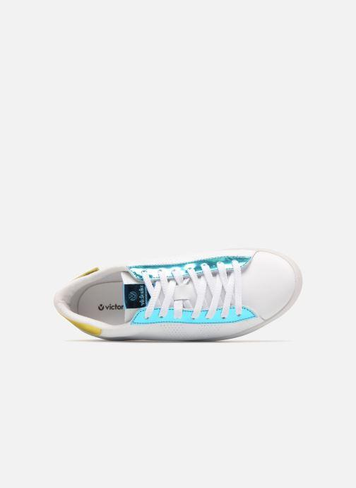 Sneakers Victoria Deportivo Piel Metalizado Azzurro immagine sinistra