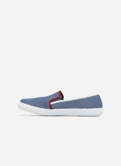 Baskets Victoria Slip On Rejilla/Tricolor Bleu vue face