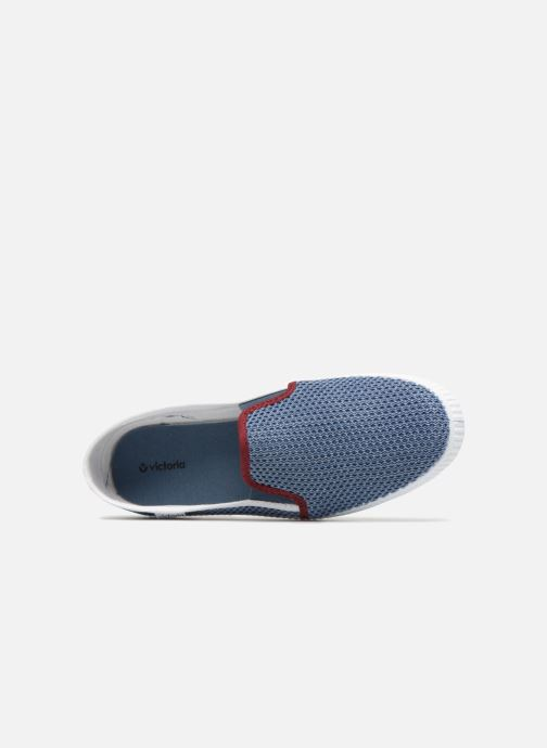 Baskets Victoria Slip On Rejilla/Tricolor Bleu vue gauche