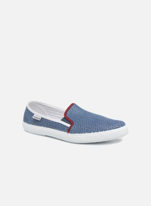 Baskets Victoria Slip On Rejilla/Tricolor Bleu vue détail/paire