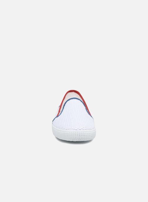 Baskets Victoria Slip On Rejilla/Tricolor Blanc vue portées chaussures