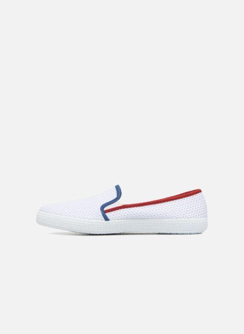 Baskets Victoria Slip On Rejilla/Tricolor Blanc vue face