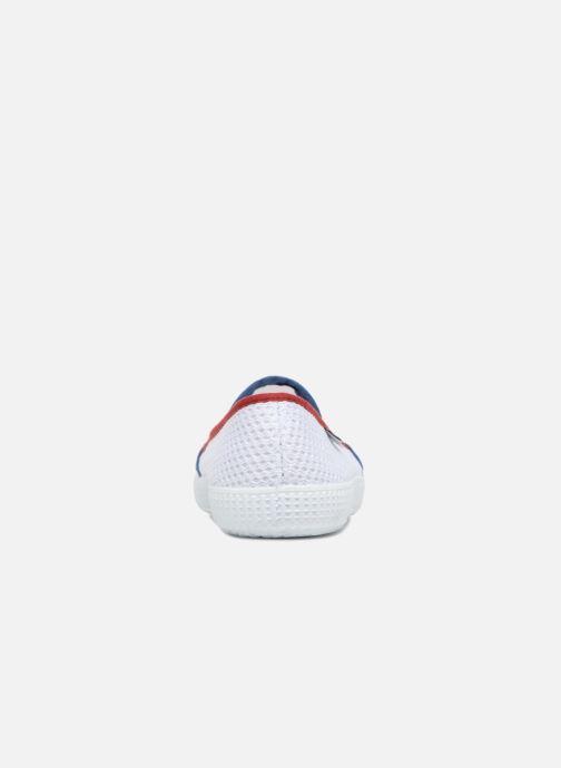 Baskets Victoria Slip On Rejilla/Tricolor Blanc vue droite