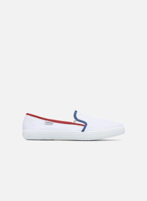 Baskets Victoria Slip On Rejilla/Tricolor Blanc vue derrière