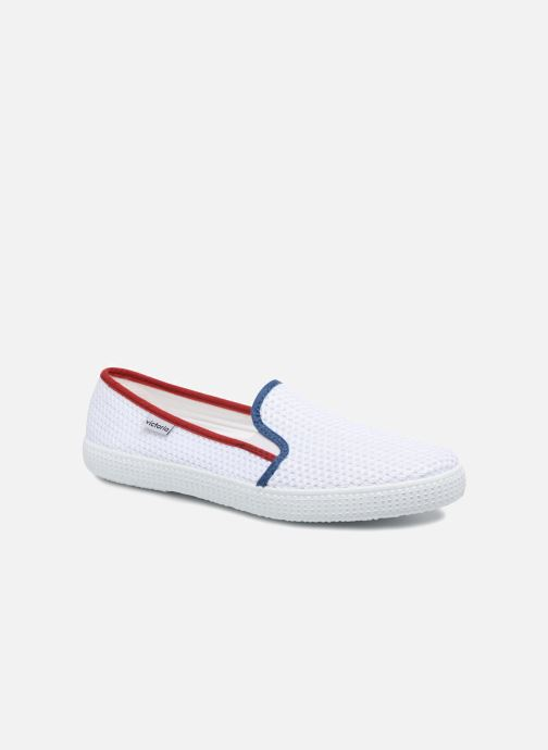 Baskets Victoria Slip On Rejilla/Tricolor Blanc vue détail/paire
