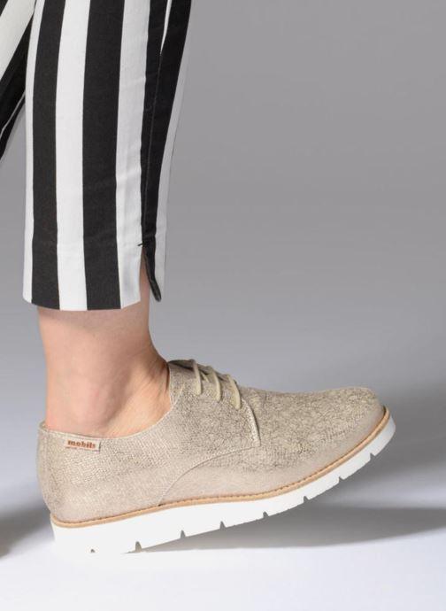 Chaussures à lacets Mephisto Aurelie Or et bronze vue bas / vue portée sac