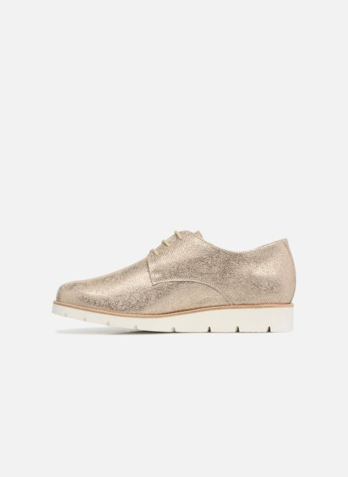 Zapatos con cordones Mephisto Aurelie Oro y bronce vista de frente