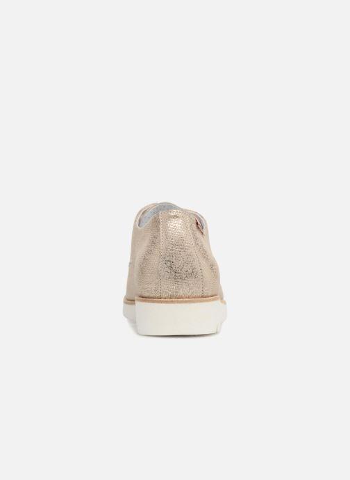 Zapatos con cordones Mephisto Aurelie Oro y bronce vista lateral derecha