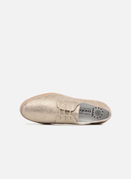 Zapatos con cordones Mephisto Aurelie Oro y bronce vista lateral izquierda