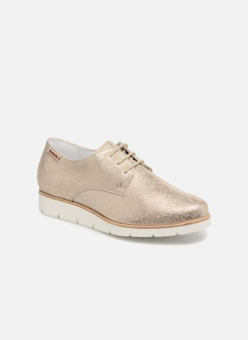 Chaussures à lacets Mephisto Aurelie Or et bronze vue détail/paire