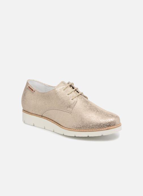 Zapatos con cordones Mephisto Aurelie Oro y bronce vista de detalle / par