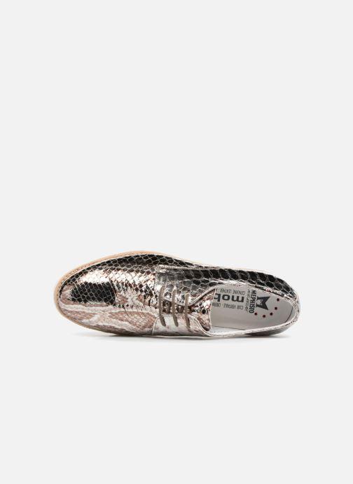 Zapatos con cordones Mephisto Aurelie Plateado vista lateral izquierda