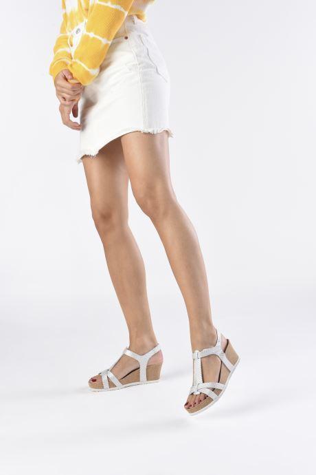 Sandales et nu-pieds Mephisto Liviane Blanc vue bas / vue portée sac