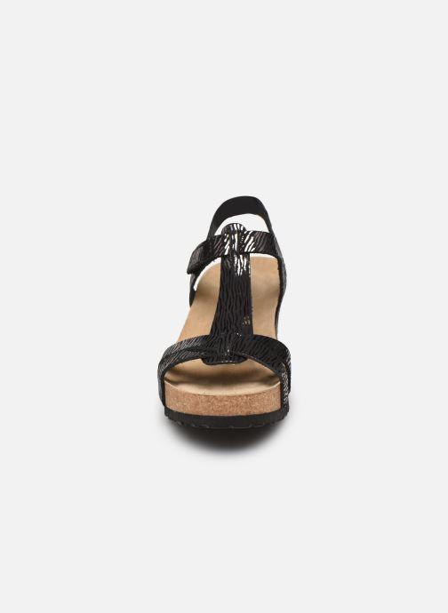 Sandales et nu-pieds Mephisto Liviane Noir vue portées chaussures
