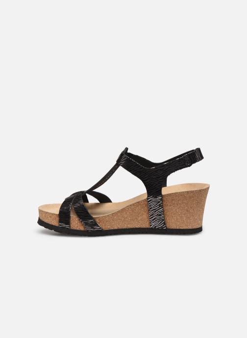 Sandales et nu-pieds Mephisto Liviane Noir vue face
