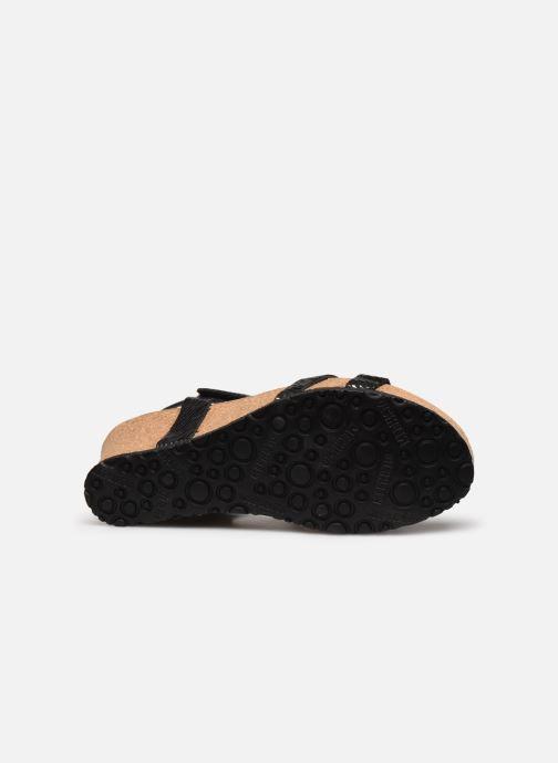 Sandales et nu-pieds Mephisto Liviane Noir vue haut