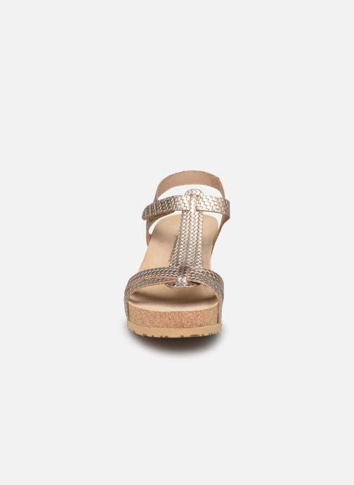 Sandalen Mephisto Liviane beige schuhe getragen