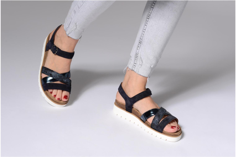 Sandales et nu-pieds Mephisto Thina Argent vue bas / vue portée sac