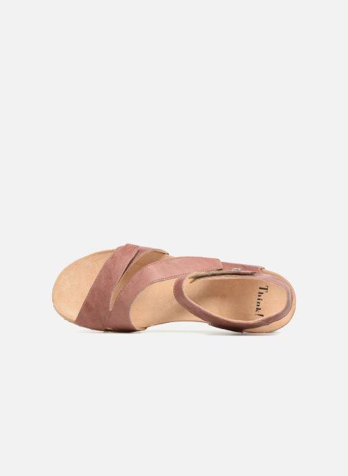 Sandales et nu-pieds Think! Dumia 84370 Rose vue gauche