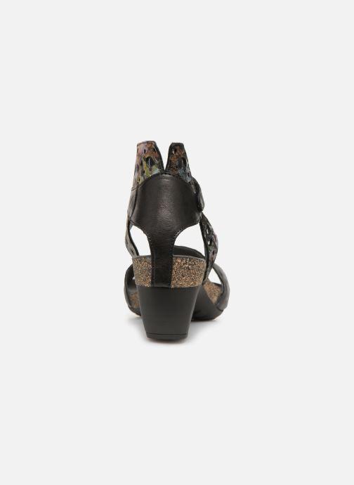 Sandales et nu-pieds Think! Traudi 84579 Noir vue droite